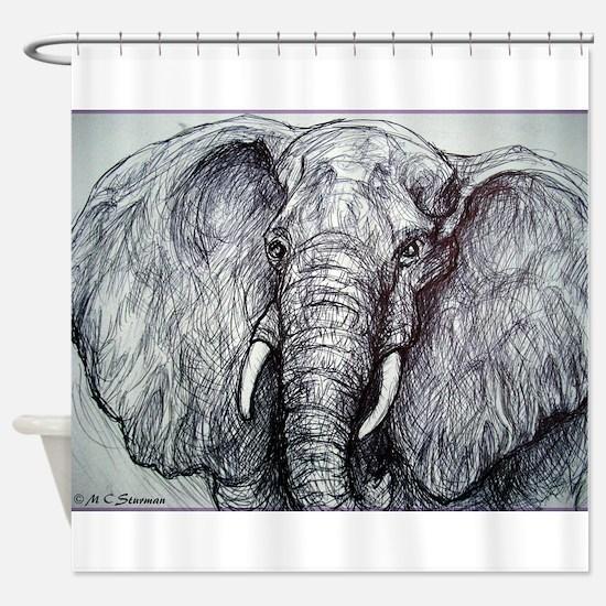 Elephant! Wildlife Art!! Shower Curtain