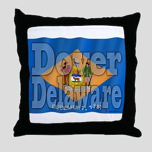 Dover, Delaware Throw Pillow