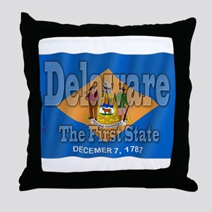 Delaware The First State Throw Pillow