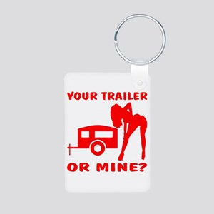 Your Trailer Or Mine? Aluminum Photo Keychain