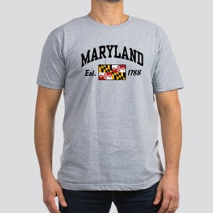 Maryland Men's Fitted T-Shirt (dark)