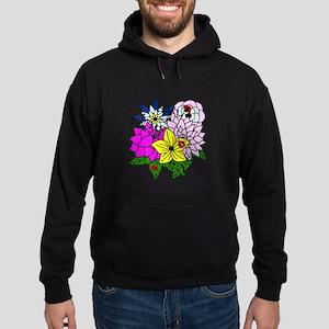 Lady Bug Flower Bed Hoodie (dark)