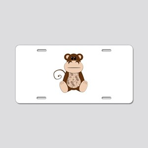 Swirly Monkey Aluminum License Plate