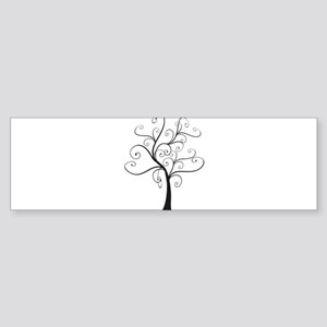 Swirly Tree Sticker (Bumper)