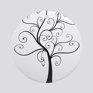 Swirly Tree Ornament (Round)