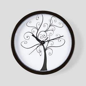 Swirly Tree Wall Clock