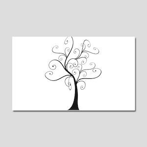 Swirly Tree Car Magnet 20 x 12