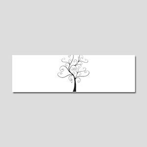 Swirly Tree Car Magnet 10 x 3
