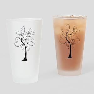 Swirly Tree Drinking Glass