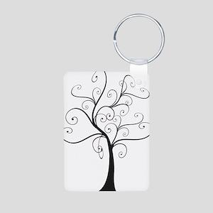 Swirly Tree Aluminum Photo Keychain