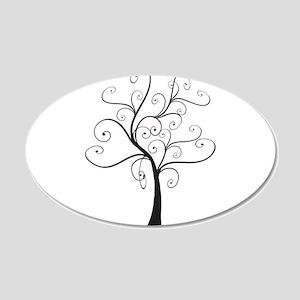 Swirly Tree 22x14 Oval Wall Peel