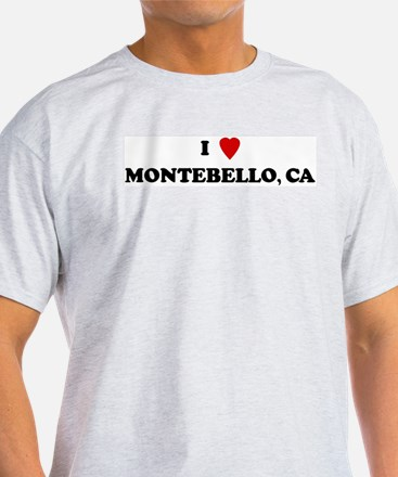I Love Montebello Ash Grey T-Shirt