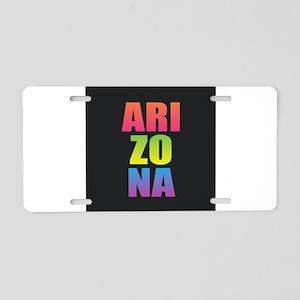 Arizona Black Rainbow Aluminum License Plate