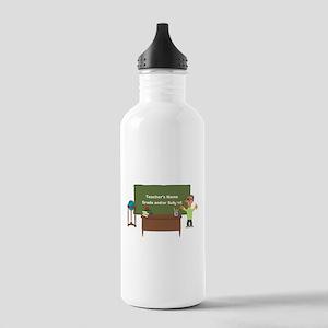 Cartoon Teacher Appreciation Male Water Bottle