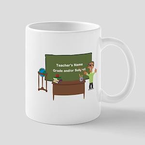 Cartoon Teacher Appreciation Male Mugs