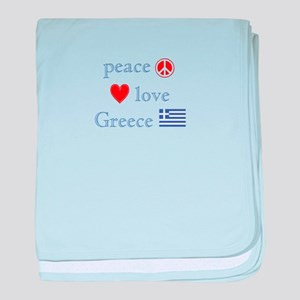 Peace, Love and Greece baby blanket