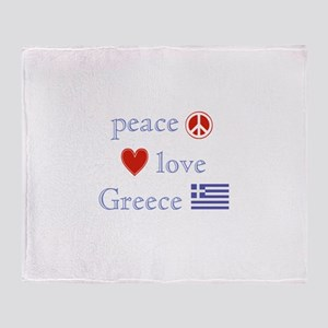 Peace, Love and Greece Throw Blanket