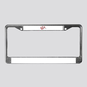 Red Cherry Blossom Tree License Plate Frame
