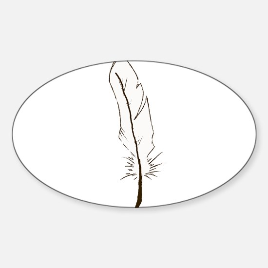 Light as A Feather Sticker (Oval)