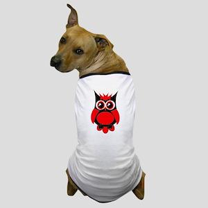 Red Punk Owl Dog T-Shirt