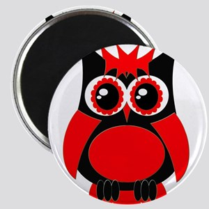 Red Punk Owl Magnet