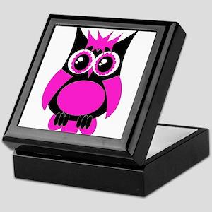 Hot Pink Punk Owl Keepsake Box