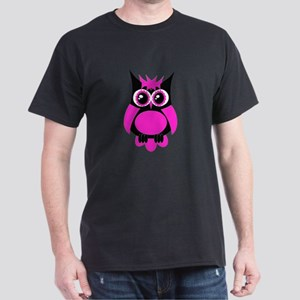 Hot Pink Punk Owl Dark T-Shirt