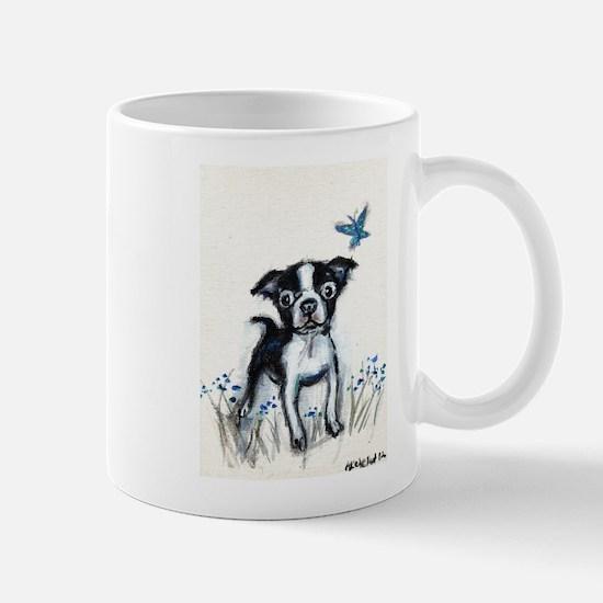 Boston Terrier pup butterfly Mug