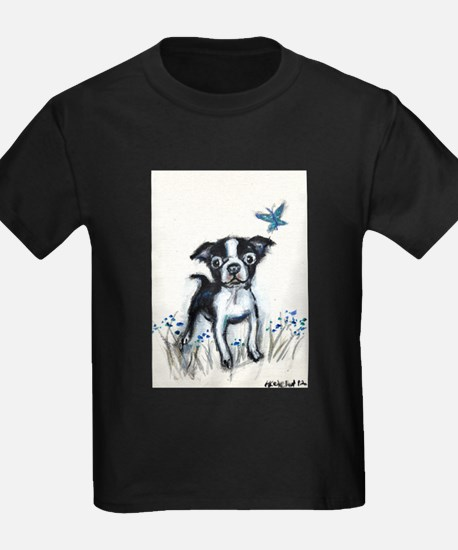 Boston Terrier pup butterfly T