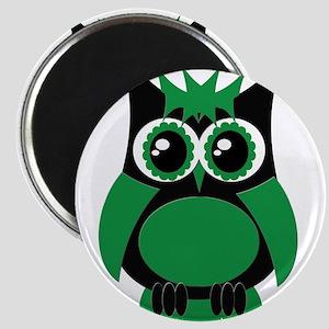 Green Punk Owl Magnet