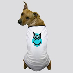 Aqua Punk Owl Dog T-Shirt