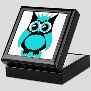 Aqua Punk Owl Keepsake Box