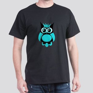Aqua Punk Owl Dark T-Shirt