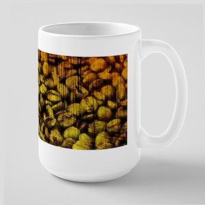 Grunge Coffee Bean Large Mug