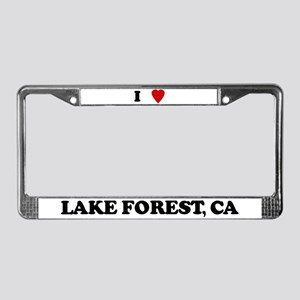 I Love Lake Forest License Plate Frame