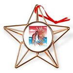 Flight Angel Copper Star Ornament