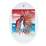 Flight Angel Ceramic Oval Ornament