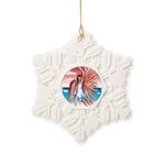 Flight Angel Snowflake Ornament
