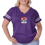 Flight Angel Women's Plus Size Football T-Shirt
