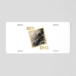 Res Ipsa Aluminum License Plate