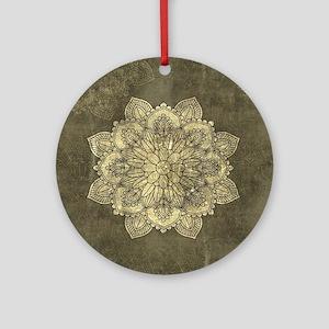 Wonderful mandala on vintage background Round Orna