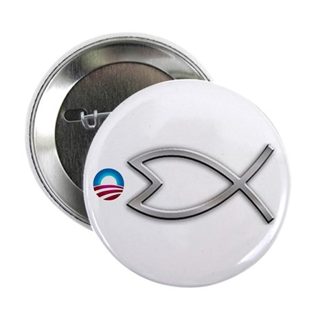 """Obama fish 2.25"""" Button (10 pack)"""