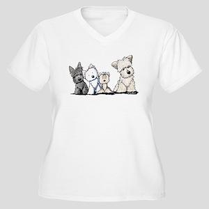 Terrier Time Women's Plus Size V-Neck T-Shirt