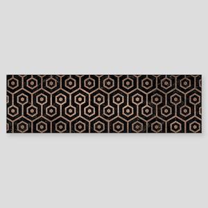 HEXAGON1 BLACK MARBLE & BRONZE ME Sticker (Bumper)