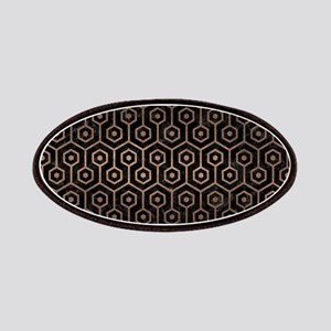 HEXAGON1 BLACK MARBLE & BRONZE METAL Patch
