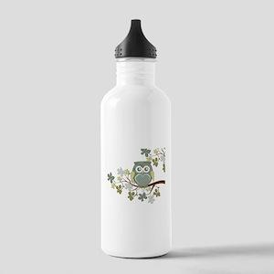 Polka Owl in Tree Stainless Water Bottle 1.0L
