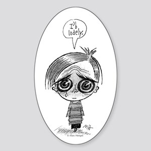 I'b Lodely Sticker (Oval)