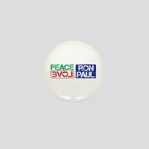 Peace Love Ron Paul Mini Button