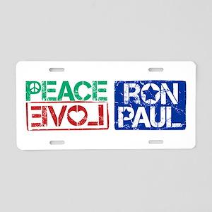 Peace Love Ron Paul Aluminum License Plate
