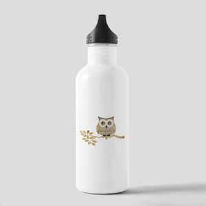 Wide Eyes Owl in Tree Stainless Water Bottle 1.0L